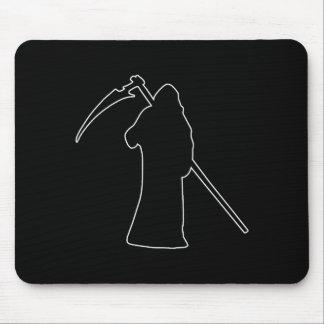 Black Death spooky figure Mouse Pad