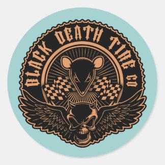 Black Death Tire Co. -Or Classic Round Sticker