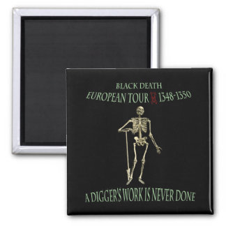 Black Death World Tour Original Design Fridge Magnet
