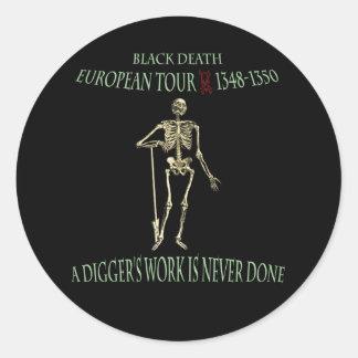 Black Death World Tour Original Design Round Sticker