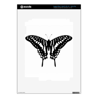 Black Decorative Butterfly iPad 3 Decal