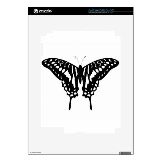 Black Decorative Butterfly Skins For The iPad 2