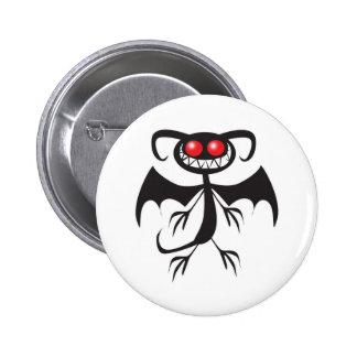 Black Demon 2 Inch Round Button