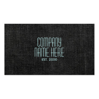 Black Denim Double-Sided Standard Business Cards (Pack Of 100)