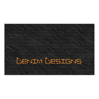 Black denim with orange mock stitch business card