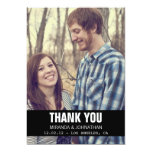 Black Design Photo Wedding Thank You Cards Personalized Invitation