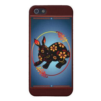 Black Designed Rabbit 441__P iPhone 5 Cover