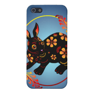 Black Designed Rabbit 441__P iPhone SE/5/5s Case