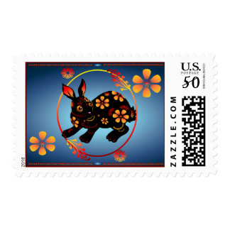 Black Designed Rabbit-Postage Postage