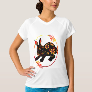 Black Designed Rabbit Shirts