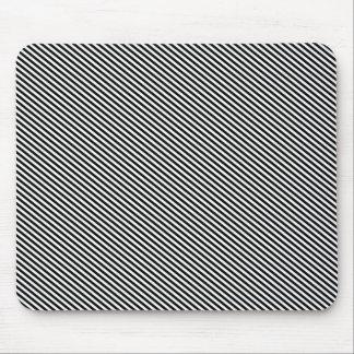 Black Diagonal Stripes Mouse Pad