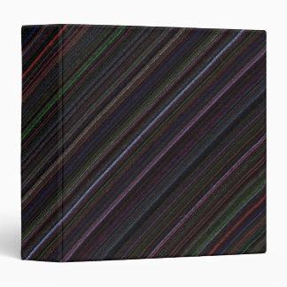 Black diagonal Technostripe 1 1/2 inch Binder