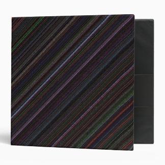 Black Diagonal Technostripe 2 inch Binder