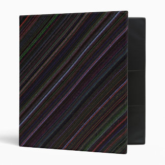 Black Diagonal Technostripe Binder 1 inch