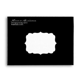 Black Diags Envelope