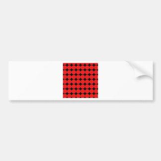 BLACK DIAMOND AND RED CIRCLES BUMPER STICKER