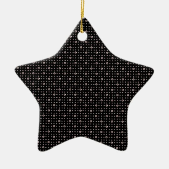 Black Diamond Bling Ceramic Ornament