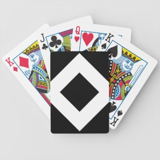 Black Diamond, Bold White Border Bicycle Playing Cards