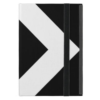 Black Diamond, Bold White Border iPad Mini Cases