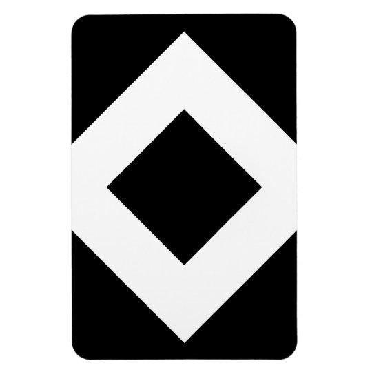 Black Diamond, Bold White Border Magnet