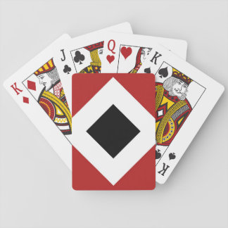 Black Diamond, Bold White Border on Red Playing Cards