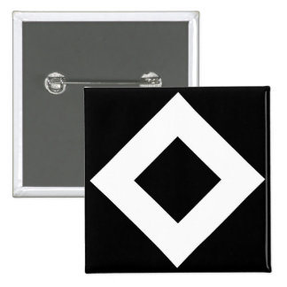 Black Diamond, Bold White Border Pinback Button