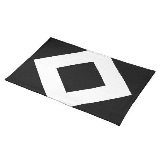 Black Diamond, Bold White Border Placemat