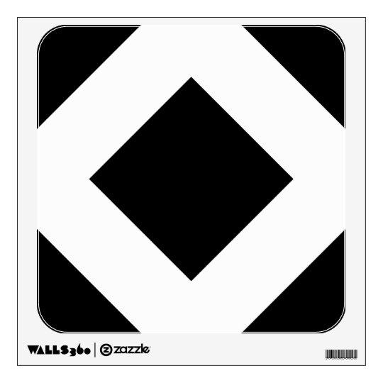 Black Diamond, Bold White Border Wall Decal