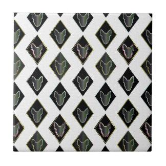 Black Diamond bull Terrier Tile