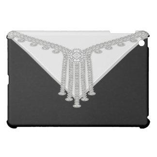 Black Diamond Draped Designer Black  iPad Mini Covers