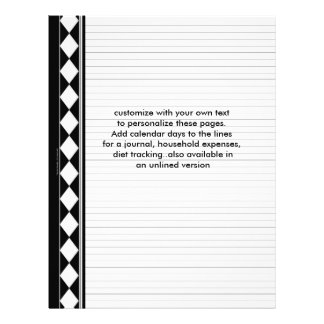 black diamond lined pages