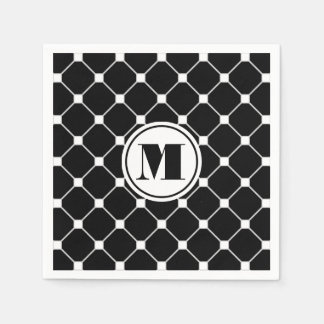 Black Diamond Napkin Paper Napkin