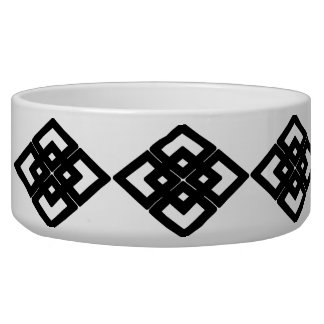 Black diamond pattern bowl