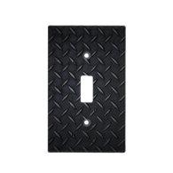 Black Diamond Plate Light Switch Cover