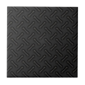 Black Diamond Plate Patterned Ceramic Tile