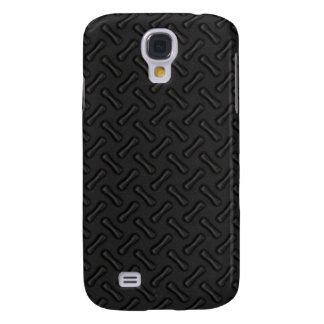 Black Diamond Plate Patterned Samsung Galaxy S4 Cover
