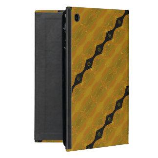 Black Diamond Stripe on Gold and Green Case For iPad Mini