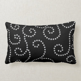 black diamond swirls throw pillow