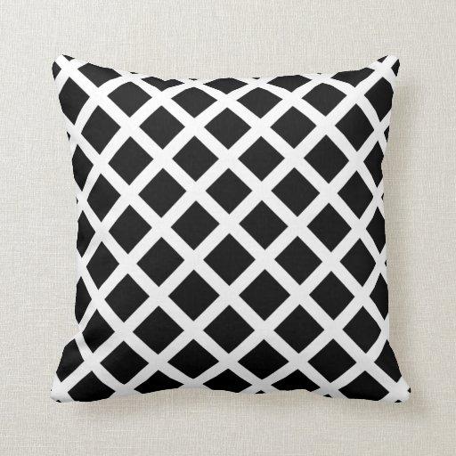 Black Diamond Throw Pillows : Black Diamond Throw Pillow Zazzle