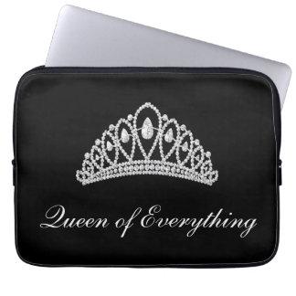Black Diamond Tiara Queen of Everything Laptop Computer Sleeve