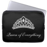 Black Diamond Tiara Queen of Everything Laptop Laptop Sleeves