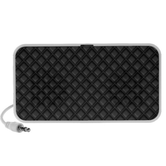 Black Diamond Waffle Fabric Pattern Mini Speaker