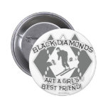 Black Diamonds 2 Inch Round Button