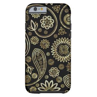 Black Diamonds And Gold Vintage Floral Paisley iPhone 6 Case