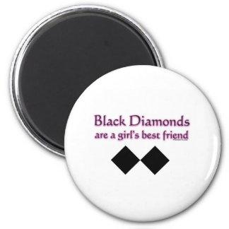 Black diamonds are a girls best friend 2 inch round magnet