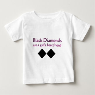 Black diamonds are a girls best friend baby T-Shirt
