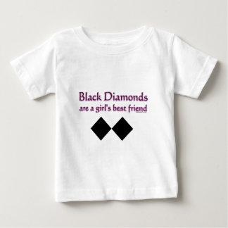 Black diamonds are a girls best friend baby T-Shirt