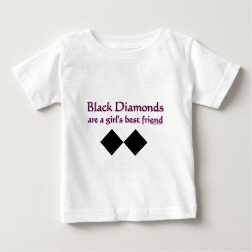 Black diamonds are a girls best friend baby t shirt zazzle for Diamond and silk t shirts