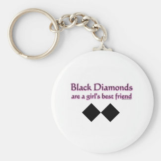 Black diamonds are a girls best friend keychain