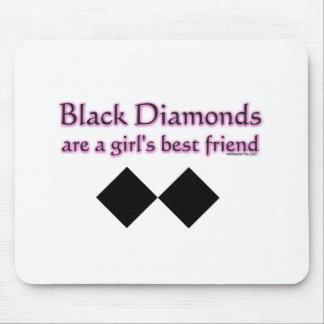 Black diamonds are a girls best friend mouse pad